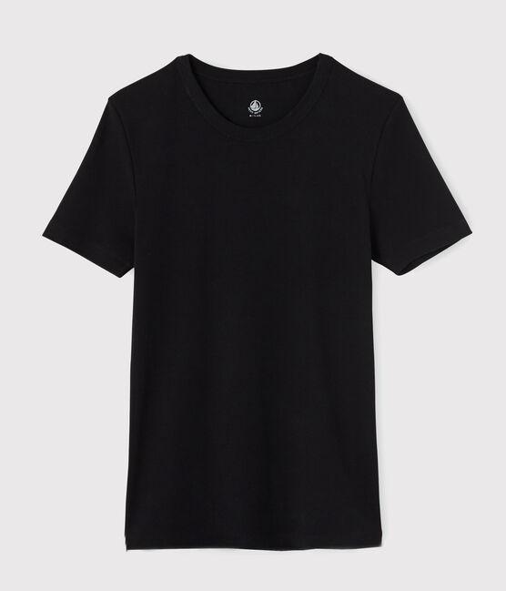 Kurzärmliges Herren-T-Shirt schwarz Noir
