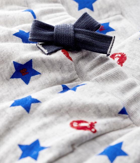 Baby-Hose aus Doppeljersey für Jungen grau Beluga / weiss Multico