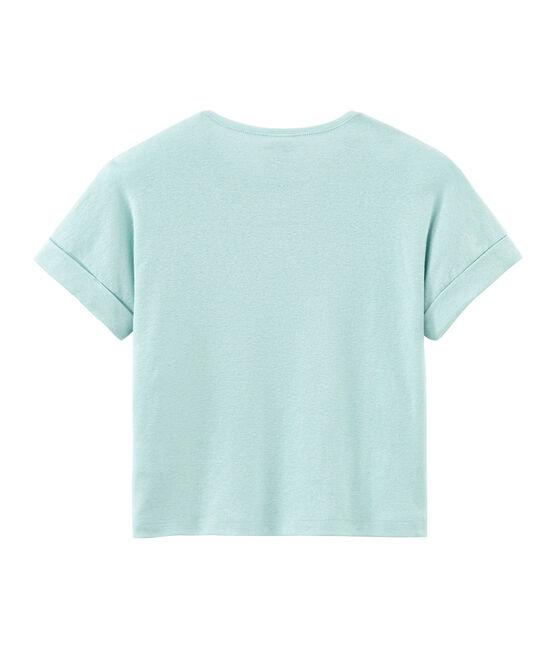Kurzärmeliges Kinder-T-Shirt Mädchen blau Crystal