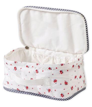 Bedruckte Unisex Baby Kulturtasche weiss Marshmallow / weiss Multico