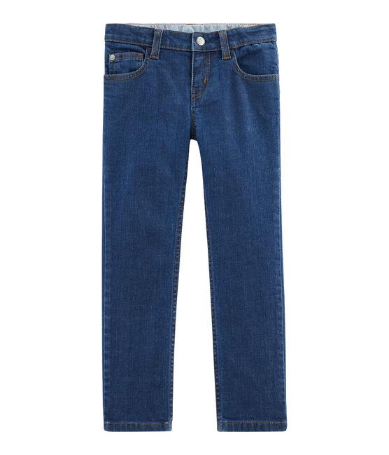 Denim-Hose für Jungen blau Denim Moyen