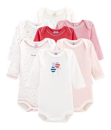Überraschungsbeutel mit sieben langärmeligen Bodys für Baby Mädchen lot .
