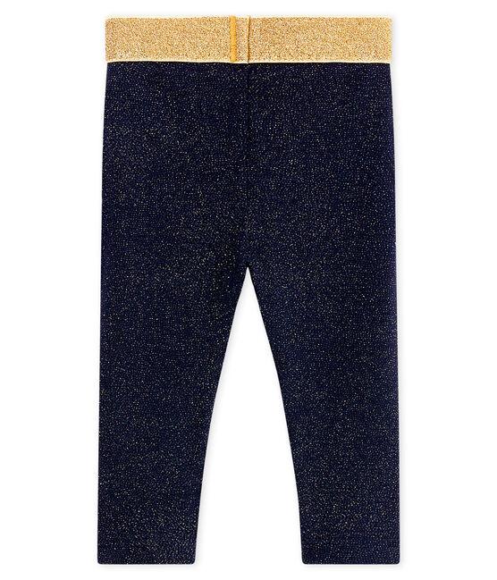 Baby-leggings mit pailletten mädchen blau Smoking / gelb Dore