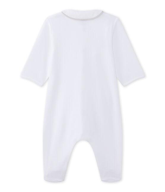 Unisex-Baby-Strampler aus Nicki weiss Ecume