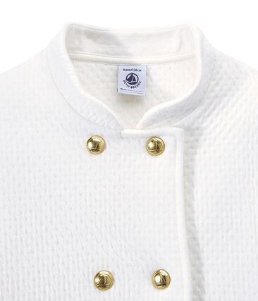 Gesteppter Mädchen-Mantel aus gedoppeltem Jersey
