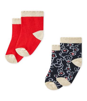 Baby-Mädchen-Socken im 2er-Set