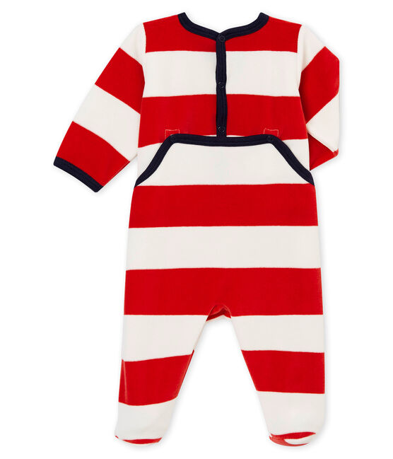 Baby Jungen Strampler rot Terkuit / weiss Marshmallow