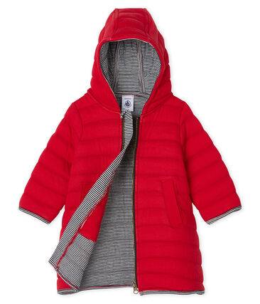 Baby-Mantel aus gestepptem Doppeljersey für Mädchen rot Terkuit