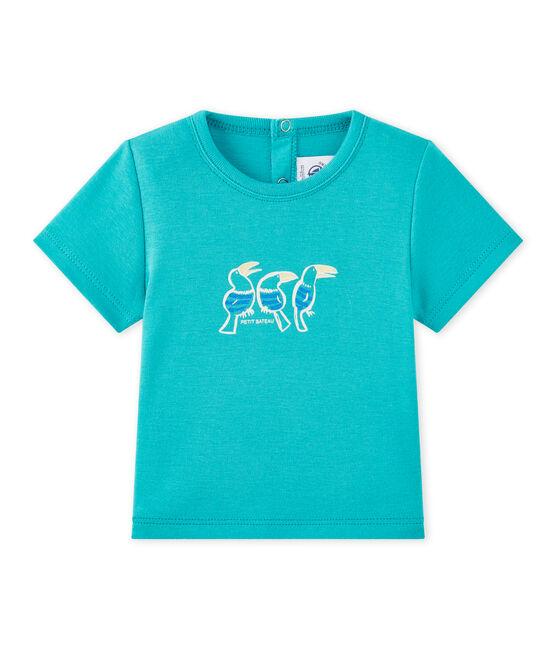 Baby-Jungen-Kurzarmshirt grün Verger