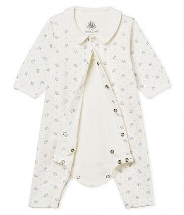 Gemusterter baby-bodyjama ohne füsse jungen 1x1-gerippt