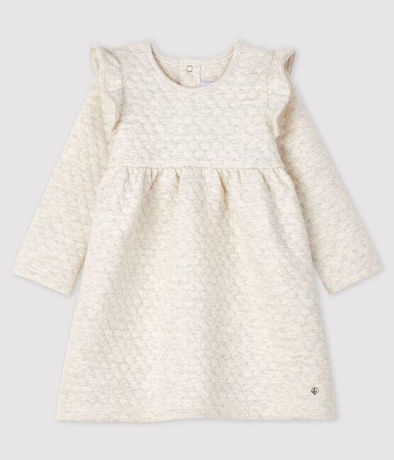 Langärmeliges Baby-Kleid für Mädchen grau Montelimar Chine