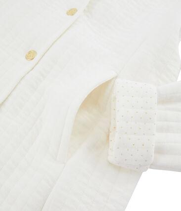 Kindermantel für Mädchen weiss Marshmallow