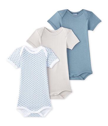 Kurzärmelige Baby-Jungen-Bodys im 3er-Set