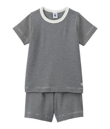 Kurzer Jungen-Schlafanzug im Milleraies-Ringelmuster