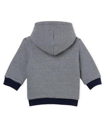 Wattiertes gestreiftes baby-kapuzenSweatshirt jungen