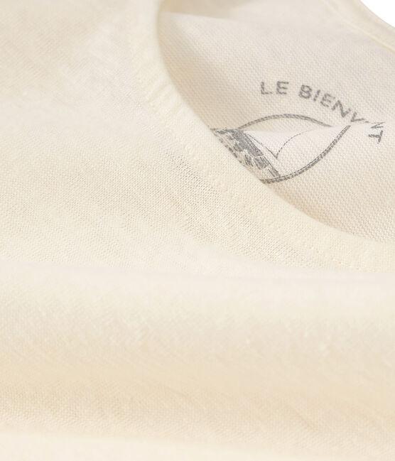 Leinen-Tanktop für Damen weiss Marshmallow