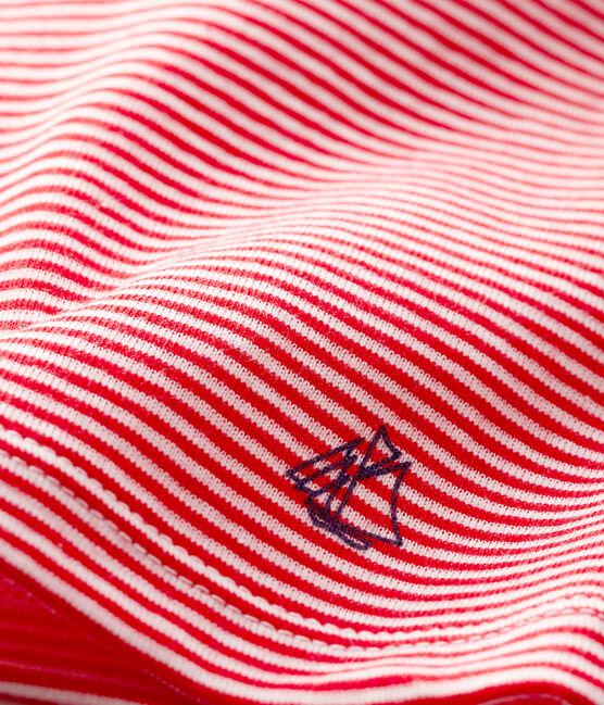 Baby-T-Shirt mit Ringelmuster für Jungen rot Peps / weiss Marshmallow