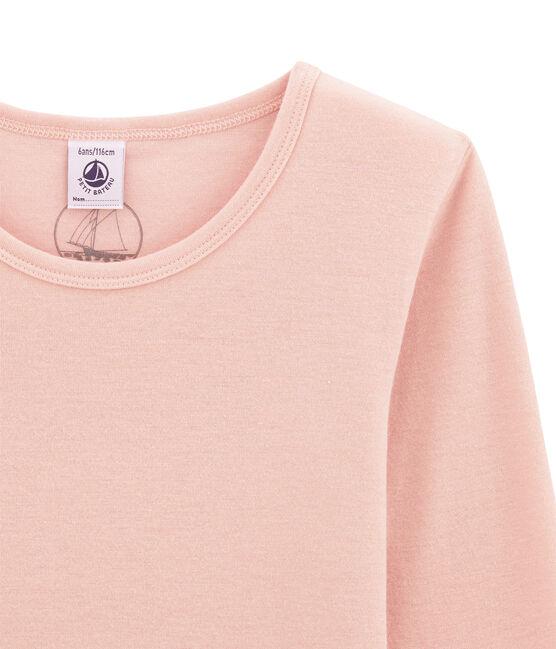 Mädchen Langarmshirt aus Woll /Baumwollgemisch. rosa Joli