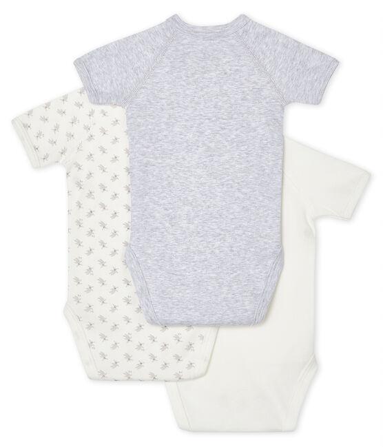 Trio kurzärmelige Neugeborenen-Baby-Bodys lot .