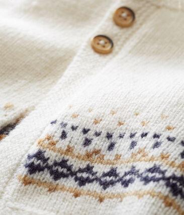Baby Jungen Strickjacke mit Jacquard-Motiv weiss Marshmallow