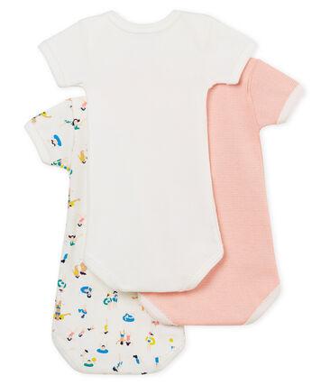 Trio kurzärmelige Baby-Bodys für Mädchen