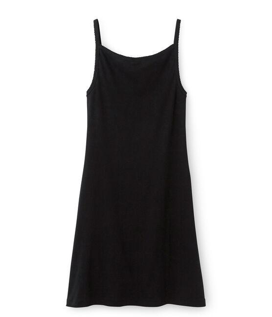 Trägerkleid Damen schwarz Noir