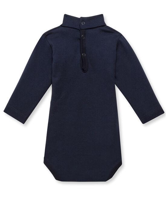 Baby-Body mit Rollkragen blau Smoking