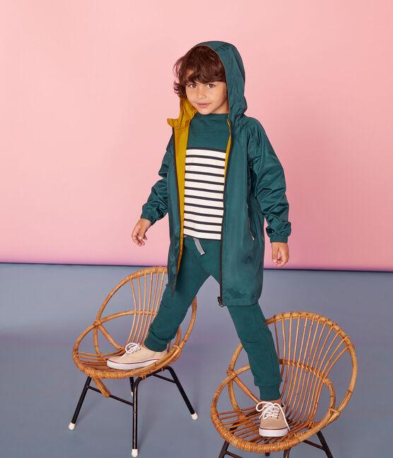 Winddichte Kinder-Wendejacke Unisex gelb Bamboo / grün Pinede