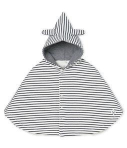 Emblematisches Baby-Cape aus wattiertem Rippstrick