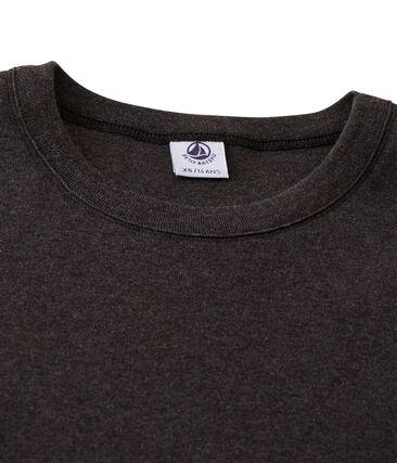 Emblematisches langärmliges T-Shirt für Damen grau City Chine