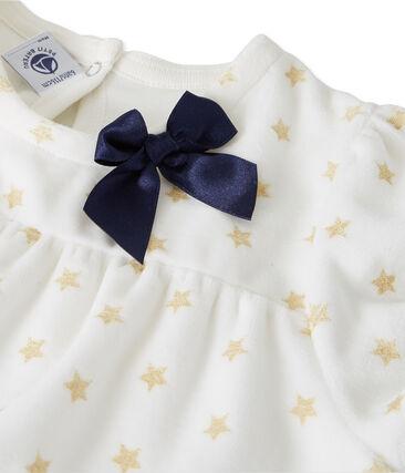 Mädchen Nachthemd weiss Marshmallow / gelb Dore