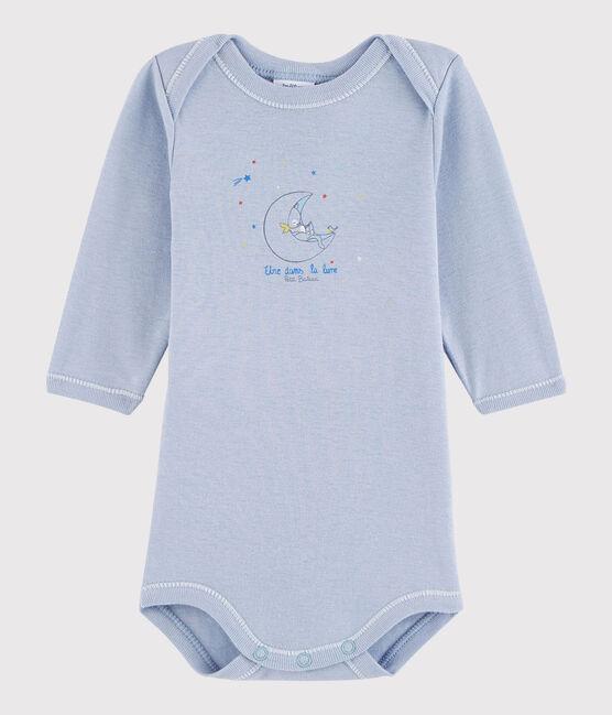 Langärmeliger Baby-Body Jungen blau Vanais