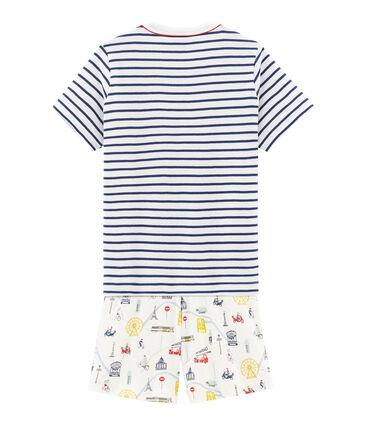 Rippstrick-Kurzpyjama für kleine Jungen