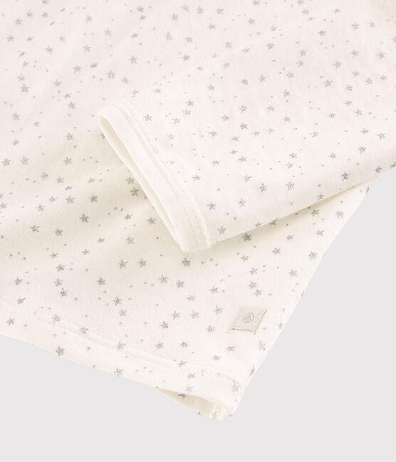 Pyjama étoilé petite fille en tubique weiss Marshmallow / grau Argent
