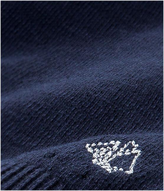 Baby-Mädchen-Cardigan aus Baumwolle blau Smoking