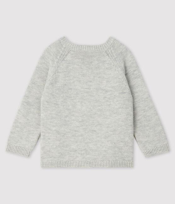 Baby-Pullover mit Muster für Jungen grau Beluga