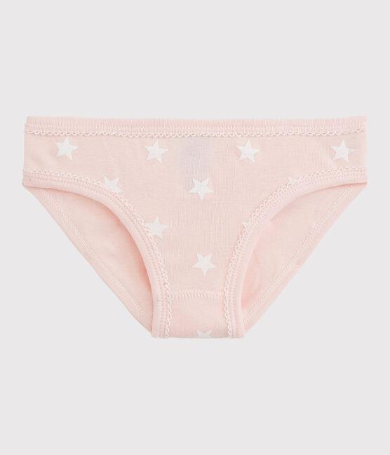 Baumwollhöschen für kleine Mädchen rosa Minois / weiss Marshmallow