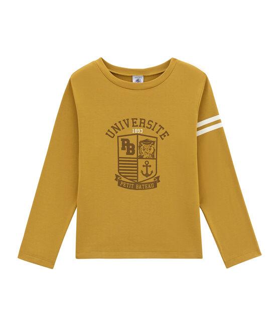 Jungen-Langarmshirt gelb Inca