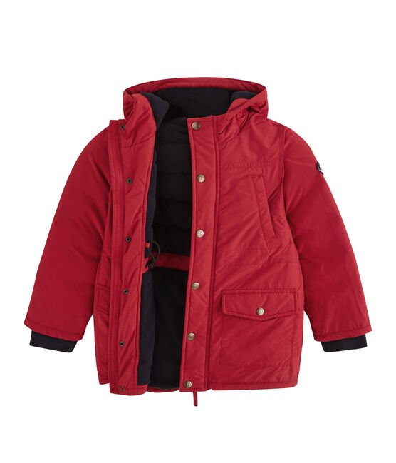 Daunenjacke mit Daunen- und Federfüllung für Jungen rot Terkuit
