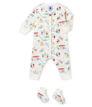 Baby MädchenSchlafanzug und Socken im Set weiss Marshmallow / weiss Multico