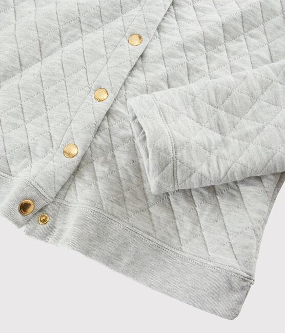 Cardigan aus Rundstrick für Damen grau Beluga