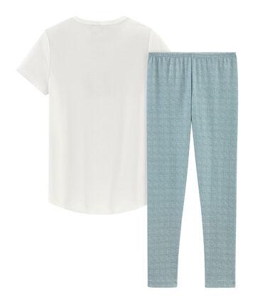 Kurzärmeliger Rippstrick-Pyjama für kleine Mädchen