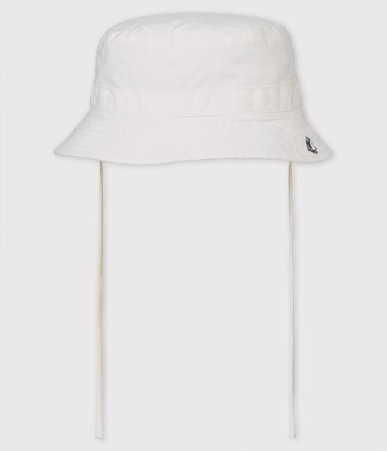 Einfarbiger Baby-Fischerhut aus Twill für Mädchen/Jungen. weiss Marshmallow