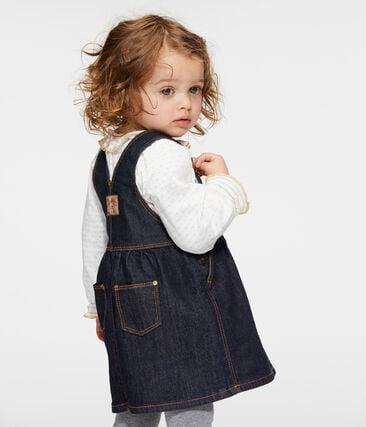 Baby-Mädchen-Kleid aus Denim