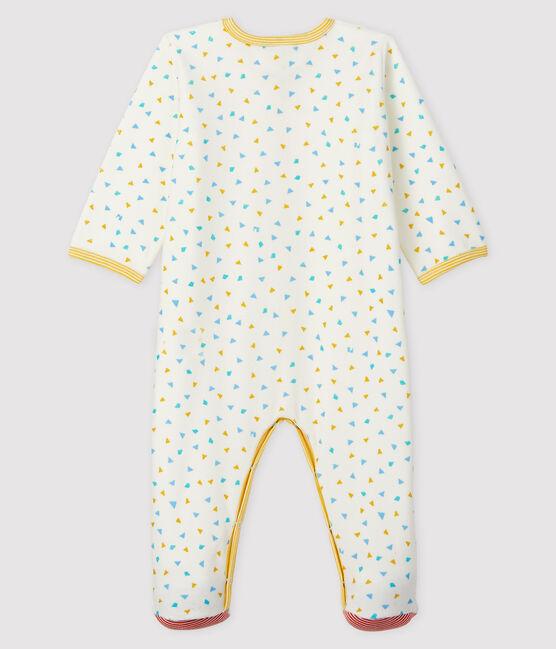 Baby-Strampler aus Samt mit Konfetti-Druck weiss Marshmallow / weiss Multico