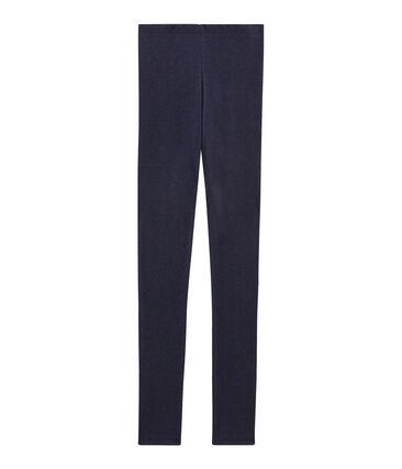 Warme Leggings für Damen blau Smoking