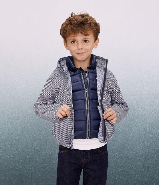 Windjacke für Kinder, 3 in 1, aus recycelten Material blau Smoking