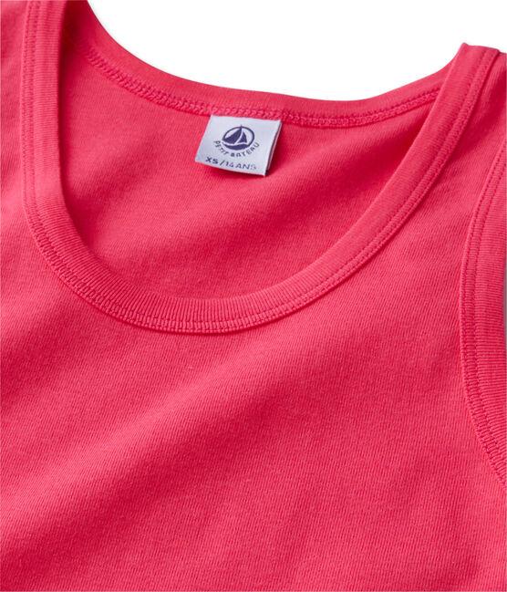 Damen-Top aus Original-Rippstrick rosa Geisha