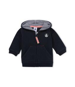 Baby-Sweatshirt aus Fleece mit Reißverschluss für Jungen blau Abysse