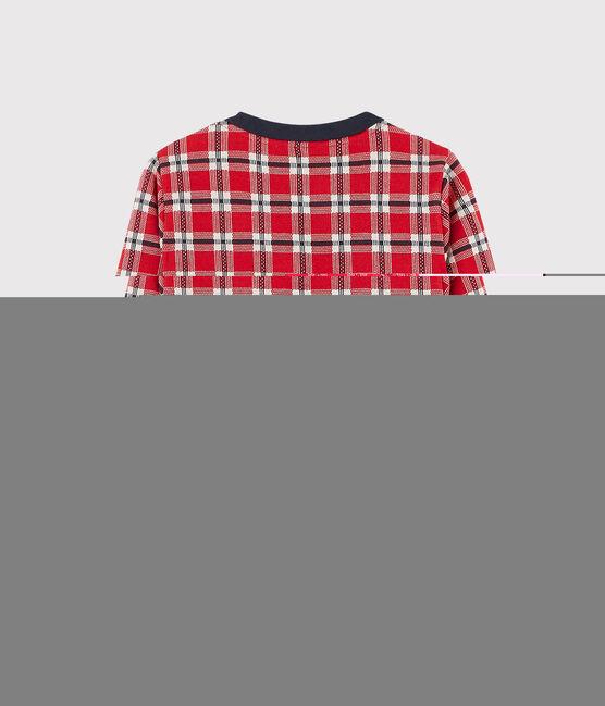 Karierter Kinder-Cardigan für Mädchen rot Terkuit / weiss Multico